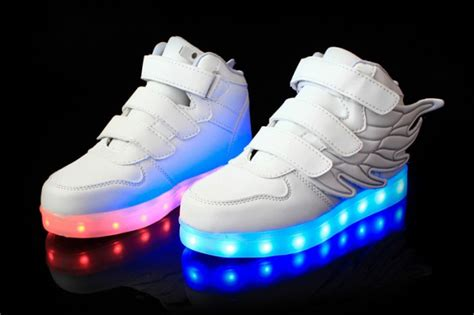 shoe carnival light up shoes white led light up shoes with wings beautifully packaged