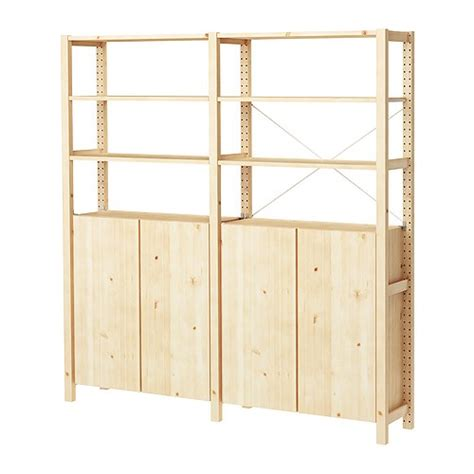 ivar 2 sections shelves cabinet ikea