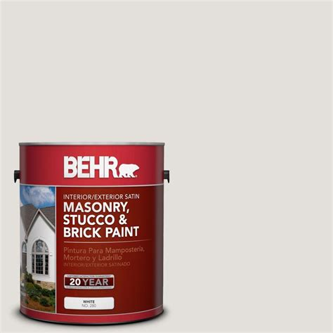 behr premium 1 gal ms 87 dove gray satin interior exterior masonry stucco and brick paint