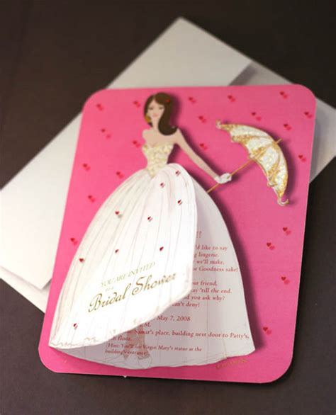 Handmade Bridal Shower Invitations - 20 lovely bridal shower invitation ideas random talks