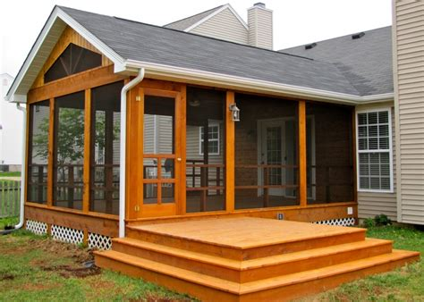 cedar screen room w side deck curb appeal