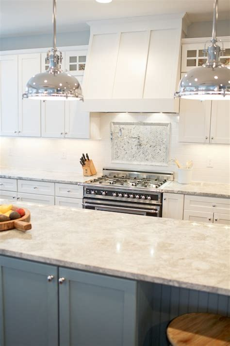 Granite Countertops Vermont by White Granite Countertops Cottage Kitchen Benjamin