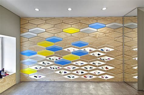 interactive interior design interactive wall design at suppakids sneaker boutique in