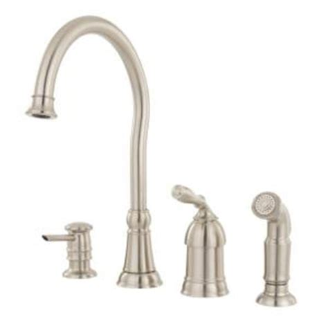 moen lindley single handle side sprayer kitchen faucet in