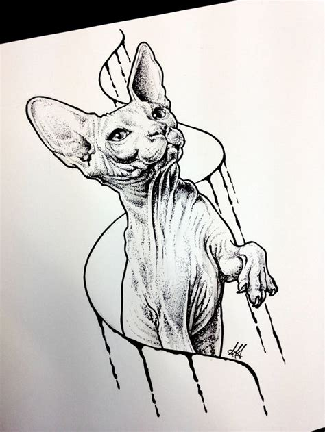 cat tattoo deviantart sphynx cat sketch tattoo by antoniettaarnonearts