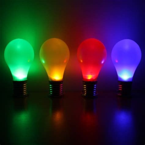 solar hanging colour light bulbs