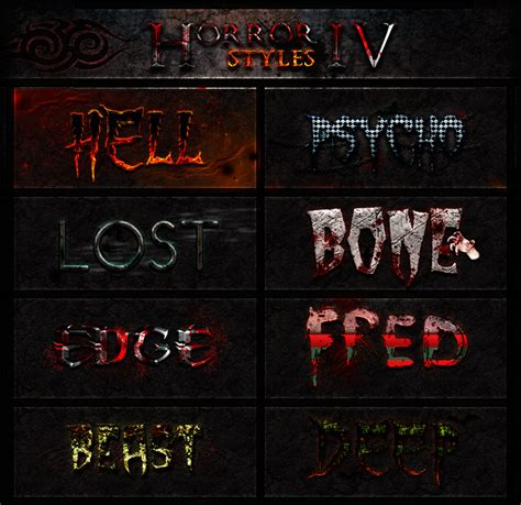 tutorial photoshop horror how to create a freddy krueger inspired text effect in