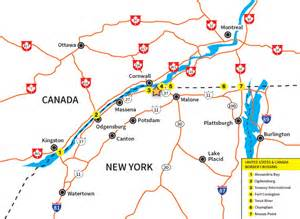 new york canada border map contact akwesasne mohawk casino