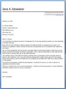 Cover Letter For A Nursing Assistant by Exle Cover Letter For Nursing Assistant Images
