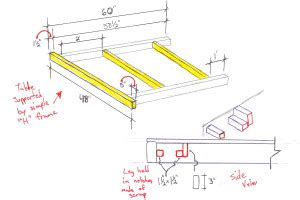 truck bed   plans bed plans diy blueprints