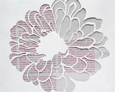 How To Make Paper Cut Outs - 13 best photos of paper flower patterns paper flower