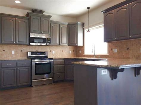 Stained Kitchen Cabinets Gray Stained Kitchen Cabinets Traditional Kitchen Boise By Revive Cabinetry