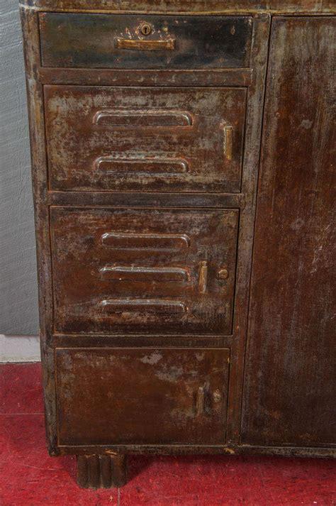 vintage metal storage cabinet vintage industrial metal storage cabinet at 1stdibs