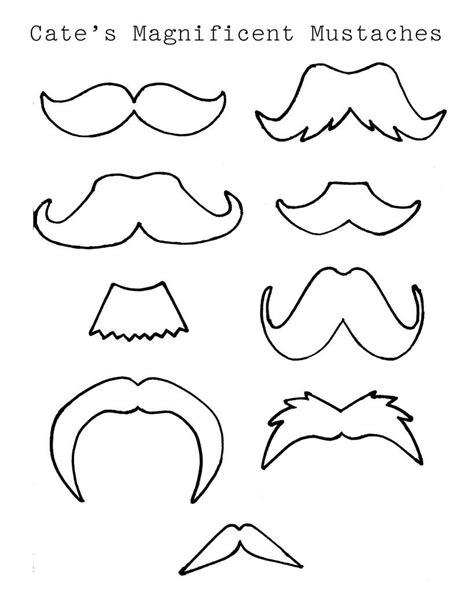 moldes para revolucionario plantillas de mostachos y bigotes diversos ideas y