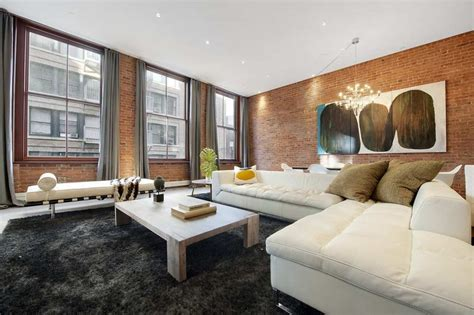 Sofa Sale In Melbourne New York Loft Great Room Dining Room Exposed Brick High