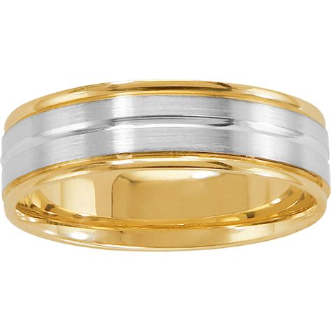 Wedding Bands Cincinnati by 14k Two Tone Cincinnati Designer Wedding Band Wedding