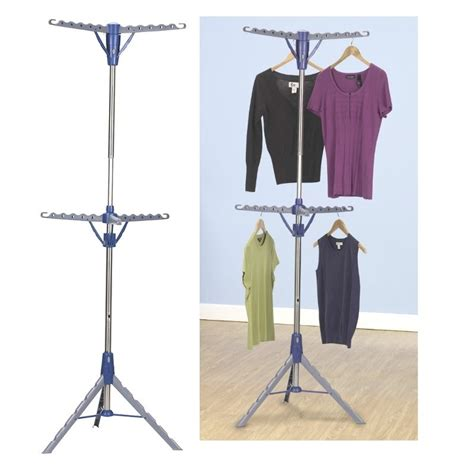 Air Dryer Clothes Rack by Household Essentials Tripod Freestanding 2 Tier Hanger