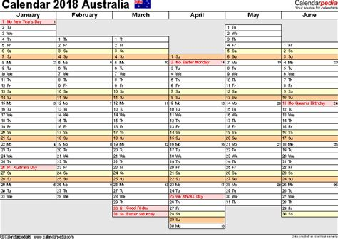 printable year planner for 2018 australia calendar 2018 free printable excel templates