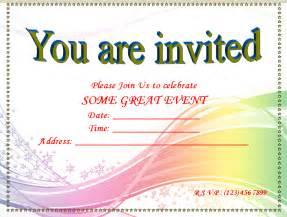 Free Invitation Templates For Word by Invitation Template Free Ebook Database