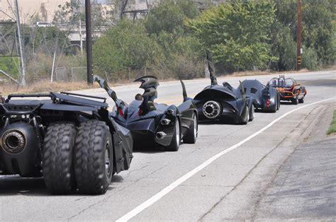 batman car warner bros displaying all six batmobiles for the first