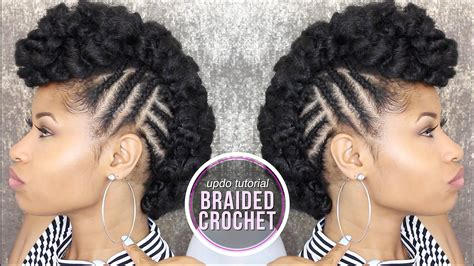 updo hairstyles with crochet braids how to side braided crochet updo youtube