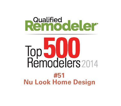 nu look home design nu look home design named to qualified remodeler list of top 500 for 2014