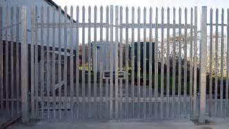 palisade high security vehicle gates pedestrian palisade secure enclsoure gate security