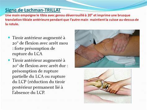 Tiroir Du Genou by Examen Clinique Du Genou Docteur Alain Moutet Marseille