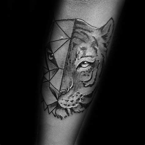 geometric jaguar tattoo 50 geometric tiger tattoo designs for men striped