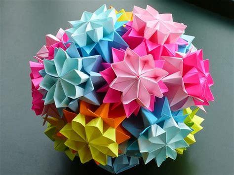 cara membuat bunga kusuduma dari kertas origami origami kusudama yang cantik untuk hiasan rumah anda