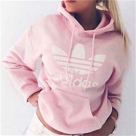 light pink adidas sweatshirt quot adidas quot fashion hooded top sweater from zuzu