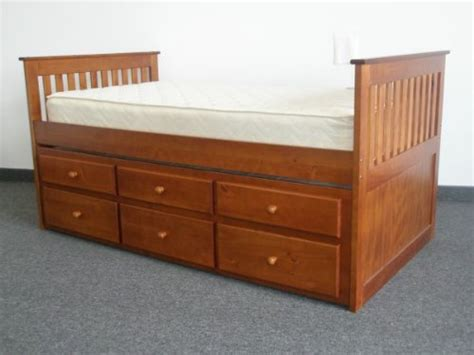 king captains bed bedz king captains twin bed with twin trundle and 3
