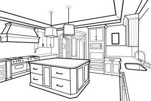 Kitchen Drawings by Sharoon The Raccoon Animation Kitchen Perspective Drawing