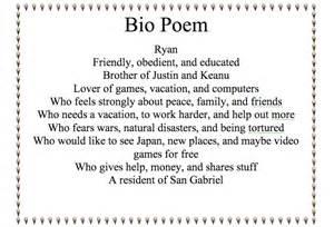 Bio Poem Template by Academics Computer Class