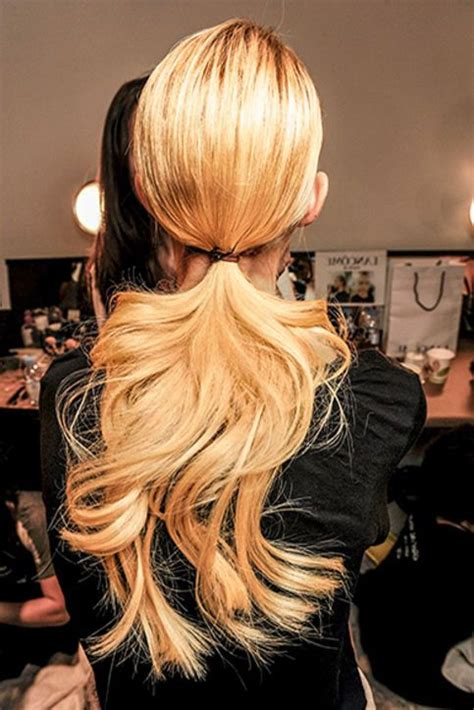 barrel curls ponytails wavy hair low ponytails and hair ideas on pinterest
