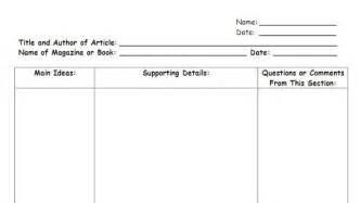 Column note taking template success