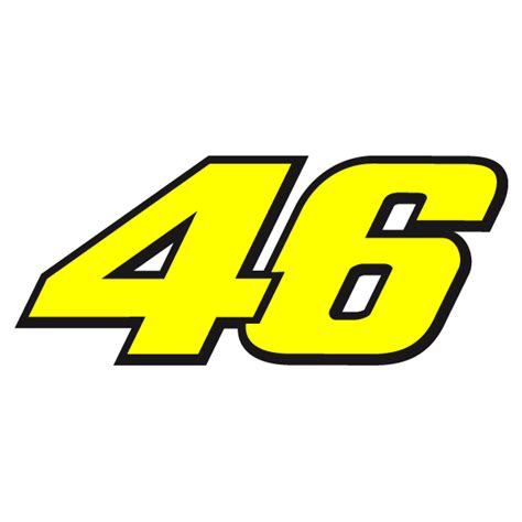 Decorative Signs For Home by Valentino Rossi Dorsal Number 46 Vale Il Dottore Decal