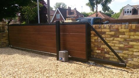 Underground Garage Design bespoke cantilevered sliding gate middlesex electric