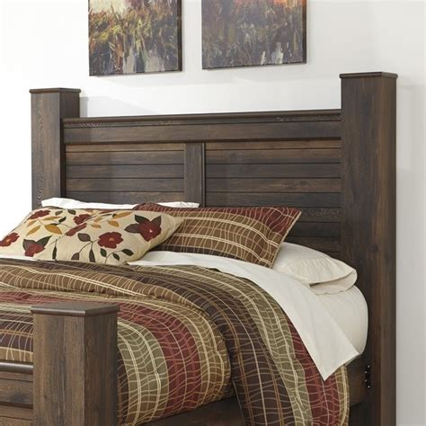 dark wood headboard queen ashley quinden wood queen poster panel headboard in dark