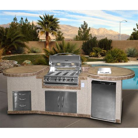 Cal Flame 3 Piece BBQ Island With 32 Inch Cal Flame