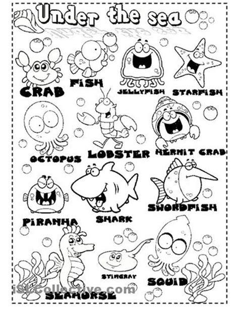 printable animal articles under the sea worksheets sea animals worksheet free