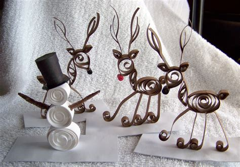 How To Make Paper Reindeer - paper quilled snowman reindeer by ursomac on deviantart
