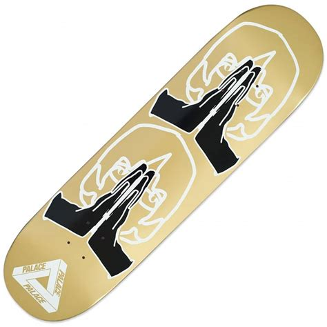 gold skateboard deck palace skateboards prey gold skateboard deck 8 4
