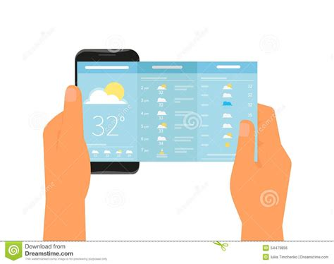 weather mobile mobile app for weather forecast stock vector image 54479856