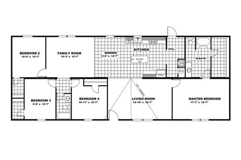 clayton floor plans floorplan the game winner 36tru28684rh clayton homes
