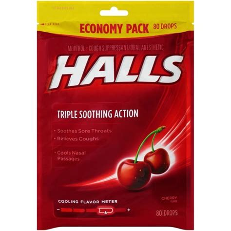 couch drops halls cough drops cherry 80ct target