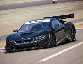 rendering bmw i8 racing car