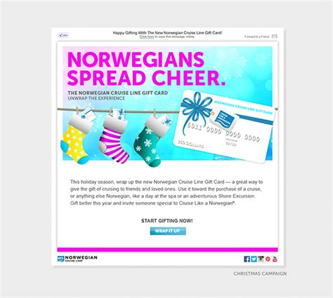 Ncl Gift Card - norwegian cruise line gift card launch and caign on behance