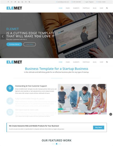 html5 business templates 31 html5 website themes templates free premium