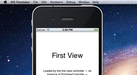 iphone layout simulator getting started building iphone apps in xcode 4 2